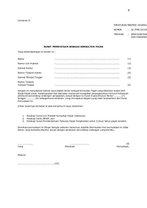 contoh surat kuasa lapor pajak masa 28 images spt pasal 21 wilayah