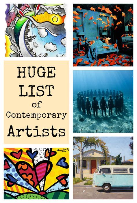 list of contemporary artists list of contemporary artists