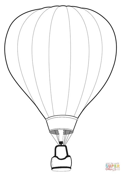 air balloon coloring page air balloon coloring page free printable coloring pages
