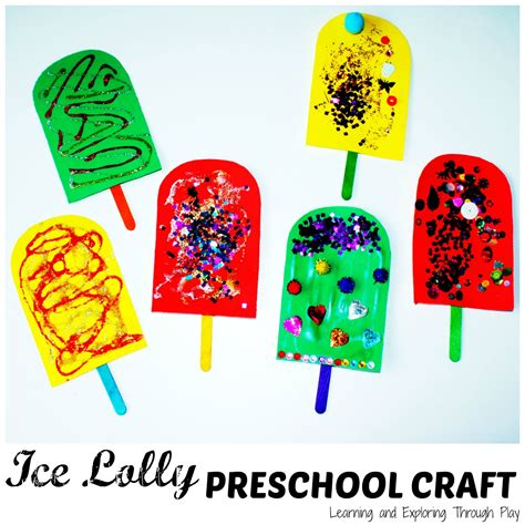 craft activity for learning and exploring through play lolly preschool craft