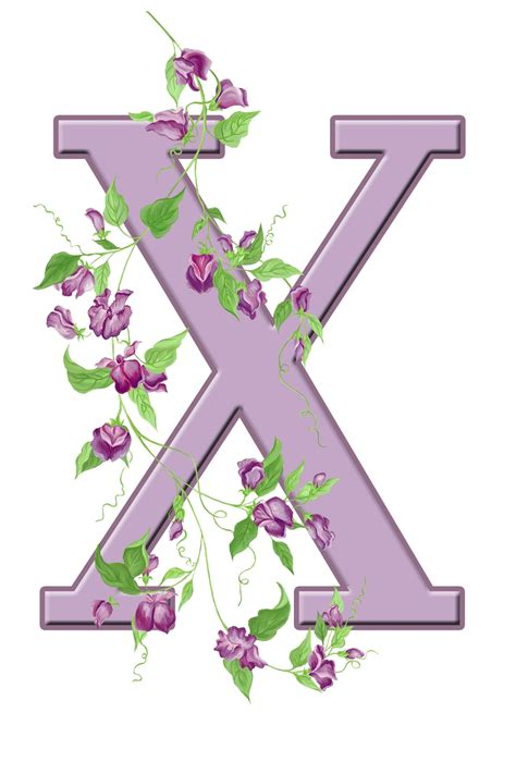 letter x floral initial free stock photo domain