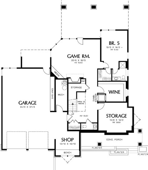 wine cellar floor plans 5 bedroom prairie plan with wine cellar 69240am 1st