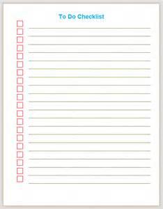 To do checklist plain format list templates