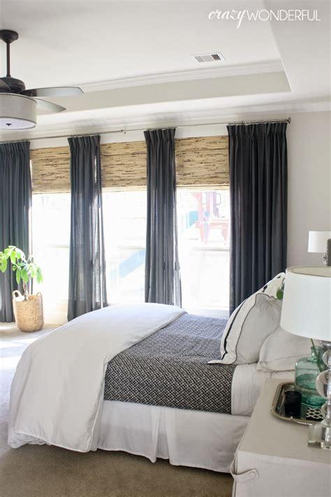 master bedroom window treatments  emelia
