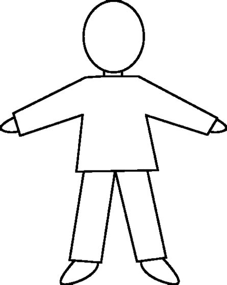 template of person plain human outline clipart best