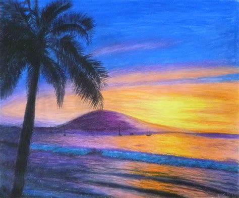 Drawing W Pastels by The Gallery For Gt Pastel Drawings Of Scenery