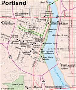portland on map of oregon portland map tourist attractions map travel holidaymapq