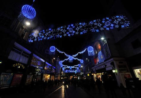 the christmas lights of birmingham city centre