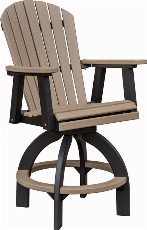 Outdoor Bar Stools With Backs by Berlin Gardens Comfo Back Poly Swivel Outdoor Bar Stool From