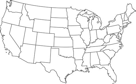 usa map outline with states geography outline maps united states