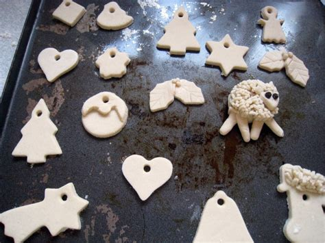 rosmademe salt dough tags and decorations christmas