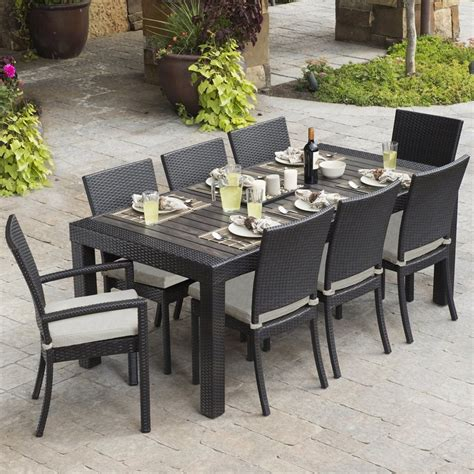 shop rst brands deco 9 brown wood frame wicker patio