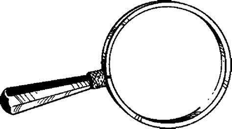 Magnifying Glass 04 Free Printable School Supplies Coloring Pages sketch template