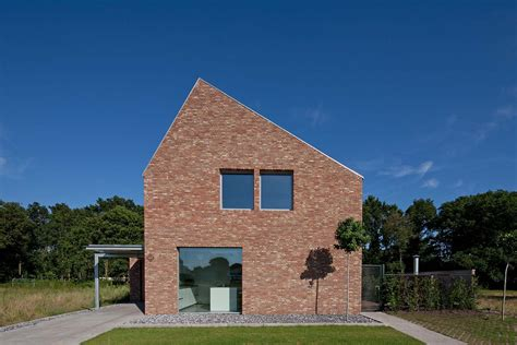 modern brick house modern gabled brick house in the netherlands
