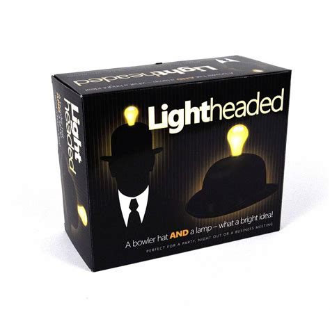 Hat With Light Built In by Lightheaded Bowler Hat With Built In Light Bulb L
