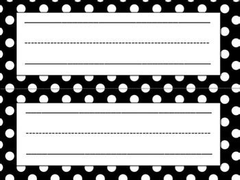 Template For Student Desk Name Cards Free Black And White by Name Plates By Education To The Teachers Pay Teachers