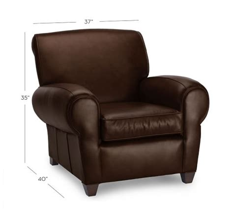 manhattan leather recliner manhattan leather recliner pottery barn