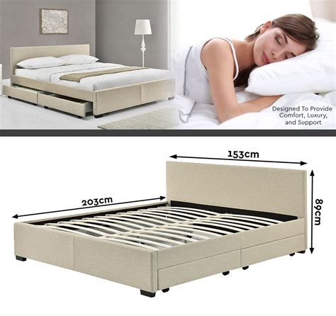 Bed Frames Perth King Size Bed Frame With 4 Storage Drawers 6 Colours Perth Up Ebay