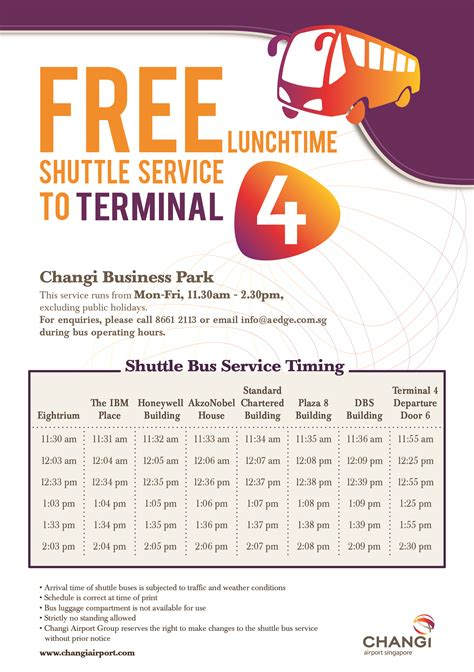 service to airport shuttle services singapore changi airport