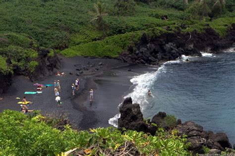 black sand beach maui maui hawaii black sand beach