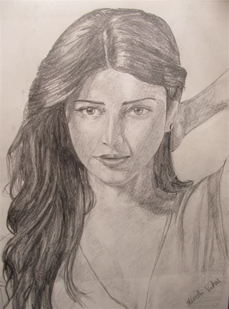 I Pencil Sketches by 3 Shruti Haasan Dreamzart