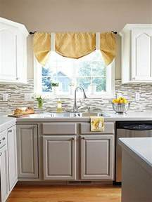 kitchens with colored cabinets stylish two tone kitchen cabinets for your inspiration