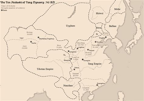 tang dynasty map jiedushi