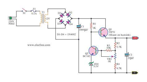 transistor untuk power supply 9v regulated power supply circuit using transistors and zener