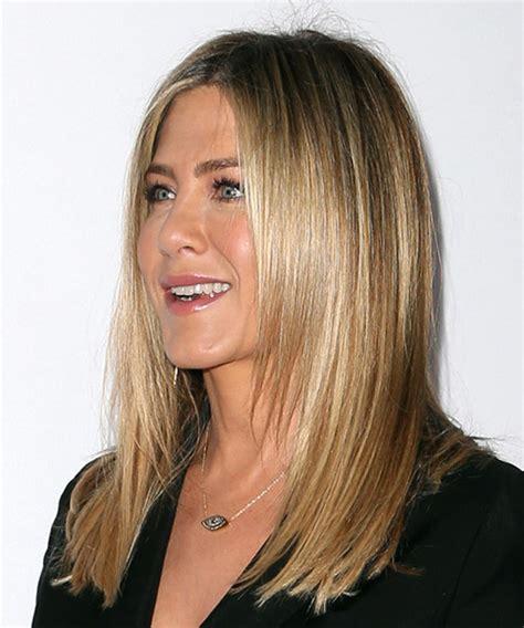 Jennifer Aniston Long Straight Formal Hairstyle   Medium