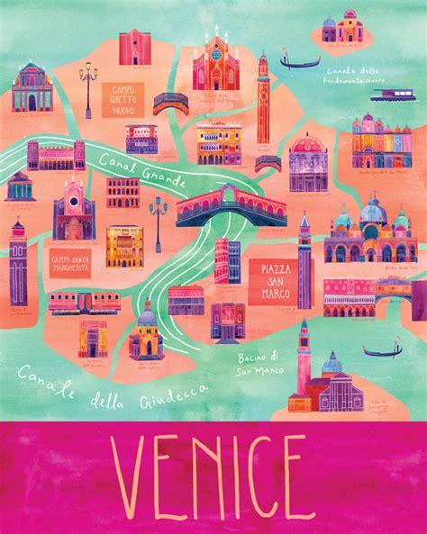 san francisco map italy cityscape illustrations by marisa seguin