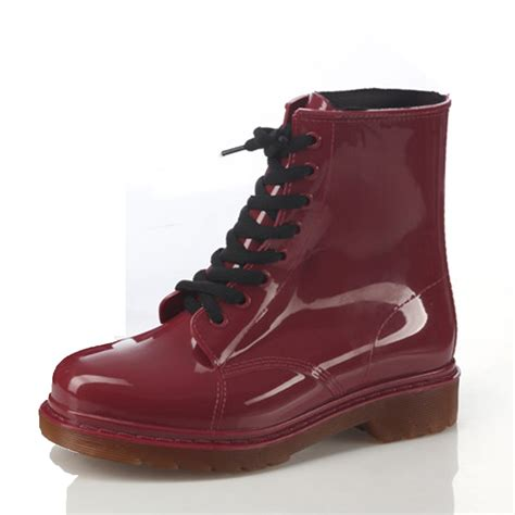 mens jelly boots festival womens rubber jelly lace up shoes ankle combat