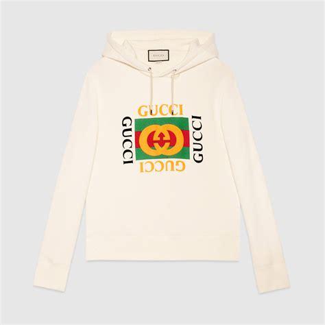 Hoddie Gucci cotton sweatshirt with gucci print gucci new sweatshirts hoodies 454585x5j579541