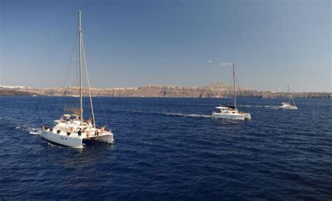sailing from greece to egypt santorini caldera yacht cruises catamaran sailing tours