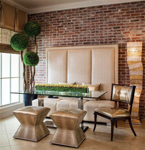 contemporary dining room wall art ideas home interiors 50 bold and inventive dining rooms with brick walls