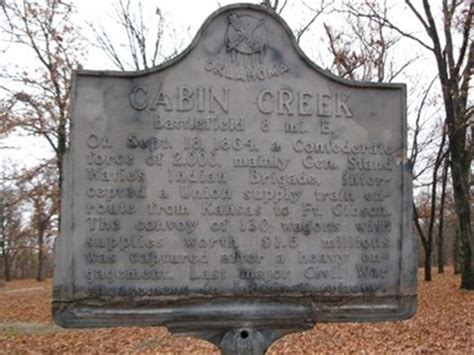 Battle Of Cabin Creek by Cabin Creek Battlefield Big Cabin Oklahoma Oklahoma