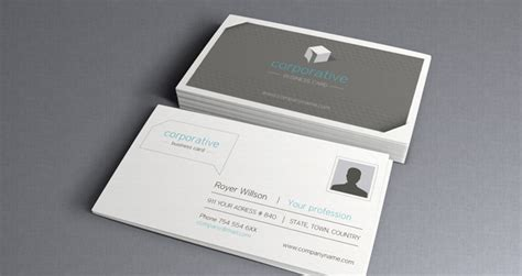 Corporate Business Card Vol 2 Business Cards Templates Pixeden Buisness Card Template 2