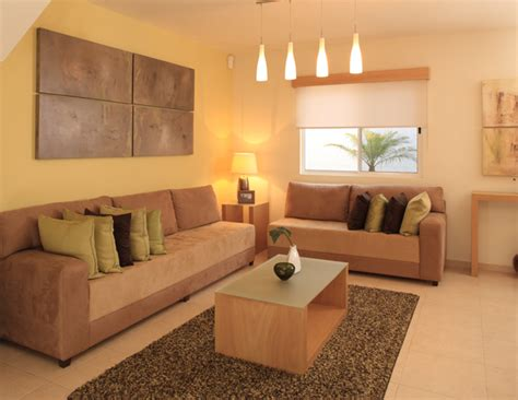 descubre ideas sencillas  decorar salas en color naranja
