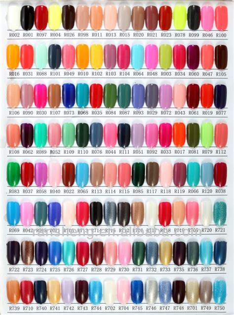 essie color chart r841 essie brand nail colors into our all in one
