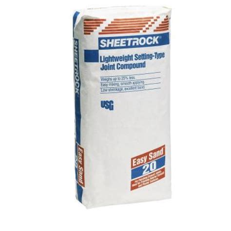 sheetrock brand 18 lb easy sand 20 setting type joint
