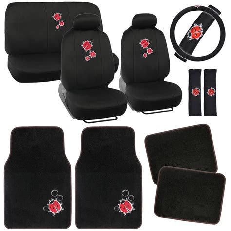 Car Floor Mats With Designs by Ladybugs Car Seat Covers Vintage Designs Polyester Cloth