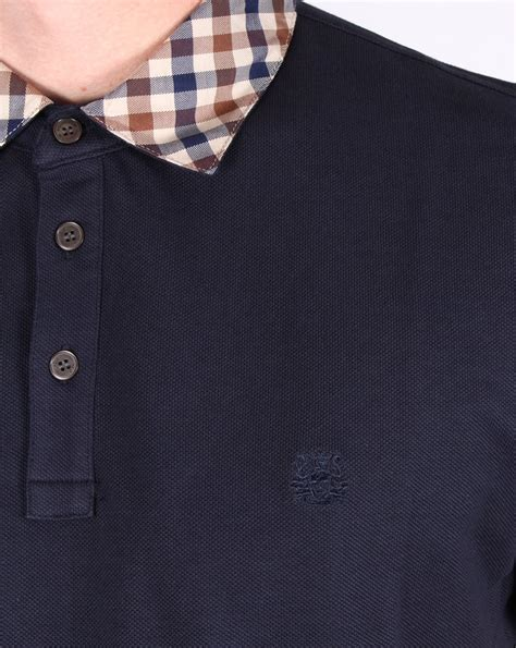 Nathan Shirt aquascutum nathan check collar polo shirt navy s pique top