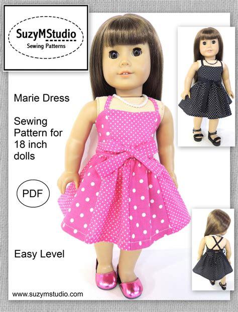 doll reader patterns dress pdf sewing pattern for 18 dolls