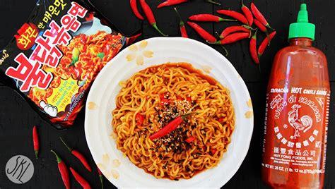 hottest korean noodles korean spicy noodle thai chili sriracha challenge 불닭