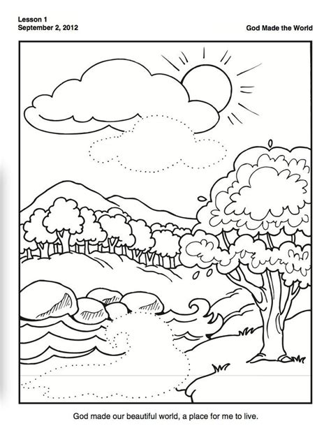 God Made Me Coloring Pages Az Coloring Pages Creation Coloring Pages For Sunday School