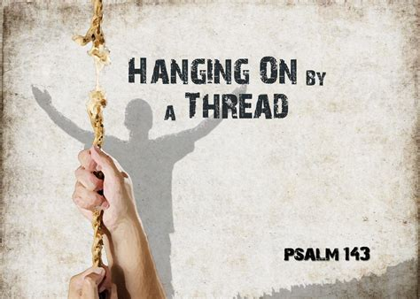 Hang On hanging on by a thread broken believers