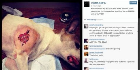 vet tech tattoo outrage after artist mistah metro inks his