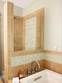 borders bathroom: glass tile border in bathroom bhg