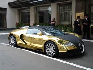 Gold And Bugatti Veyron Bugatti Veyron Gold And