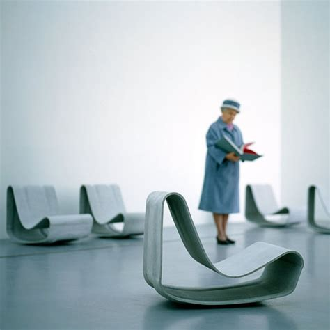 loop chair modern concrete outdoor chair  willy guhl