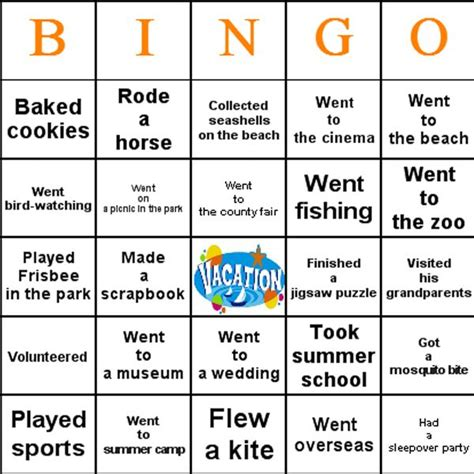 first day of school activities bingo is a great first